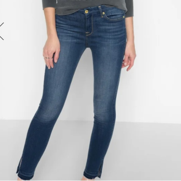 7 For All Mankind Denim - B(air) High Waist Ankle Skinny With Released Side